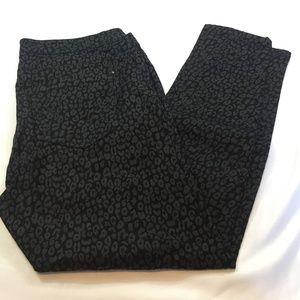 Forever 21+ Black Cheetah Print Skinny Jeans